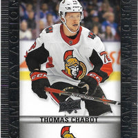 Tim Horton's Upperdeck Hockey Insert: Game Day Action: HGD-5 Thomas Chabot - Busy Bee Emporium