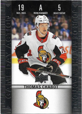 Tim Horton's Upperdeck Hockey Insert: Game Day Action: HGD-5 Thomas Chabot
