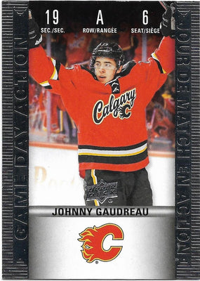 Tim Horton's Upperdeck Hockey Insert: Game Day Action: HGD-6 Johnny Gaudreau