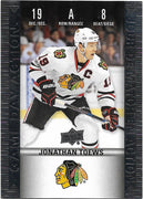 Tim Horton's Upperdeck Hockey Insert: Game Day Action: HGD-8 Jonathan Toews