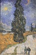 VINCENT VAN GOGH Postcard: Road with Cypresses, 1890 - Busy Bee Emporium