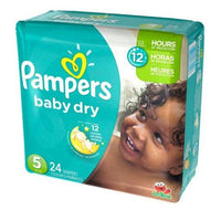 PAMPER'S DIAPERS - BABY DRY SIZE 5's; 24 PACK