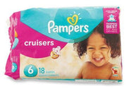 PAMPER'S DIAPERS - CRUISERS SIZE 6; 18 PACK