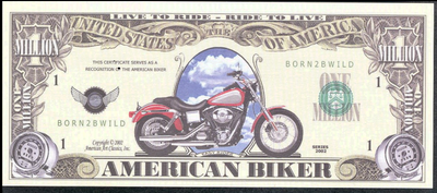 AMERICAN BIKER 2002 💶🏍 One Million Fantasy Money 🏍💴 Easy Rider Motorcycle
