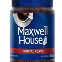 MAXWELL HOUSE INSTANT COFFEE - ORIGINAL ROAST 150g