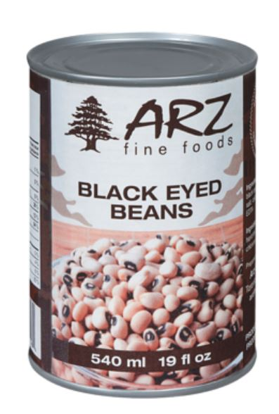 ARZ FINE FOODS - BLACK EYED BEANS - 540ml