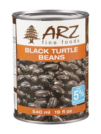 ARZ FINE FOODS - BLACK TURTLE BEANS - 540ml