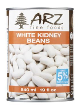 ARZ FINE FOODS - WHITE KIDNEY BEANS - 540ml