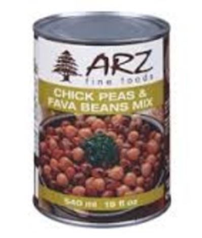 ARZ FINE FOODS - CHICK PEAS & FAVA BEANS MIX - 540ml