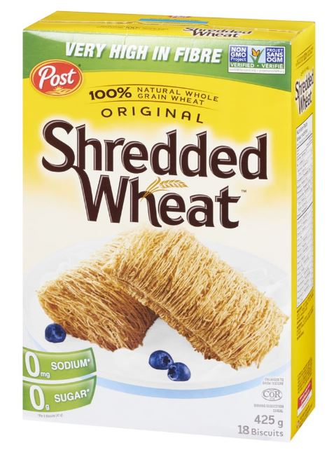 POST - SHREDDED WHEAT (18) Biscuits CEREAL 425g