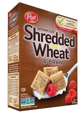 POST - Spoon Size SHREDDED WHEAT & BRAN CEREAL 525g