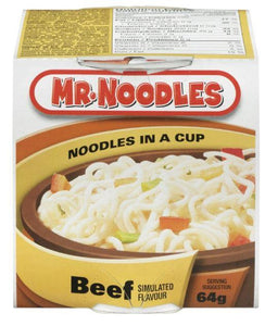 MR NOODLES - NOODLES IN A CUP - BEEF 64g