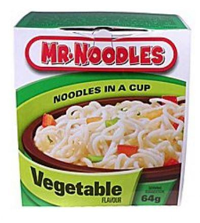 MR NOODLES - NOODLES IN A CUP - VEGETABLE 64g