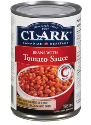 CLARK - BEANS WITH TOMATO SAUCE - 398ml