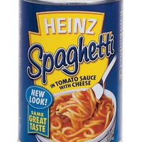 HEINZ SPAGHETTI WITH CHEESE - 398ml