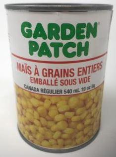 GARDEN PATCH - CREAM STYLE CORN 540ml