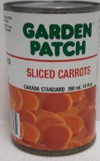 GARDEN PATCH - SLICED CARROTS 398ml