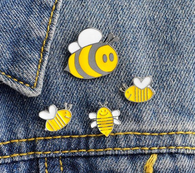 🐝🐝 HONEY BEE FAMILY - 4 PIN SET 🐝🐝