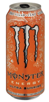 MONSTER ENERGY DRINK - ULTRA SUNRISE 473ml- Bottle deposit is included in the price.