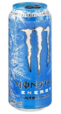 MONSTER ENERGY DRINK - ULTRA BLUE 473ml- Bottle deposit is included in the price.