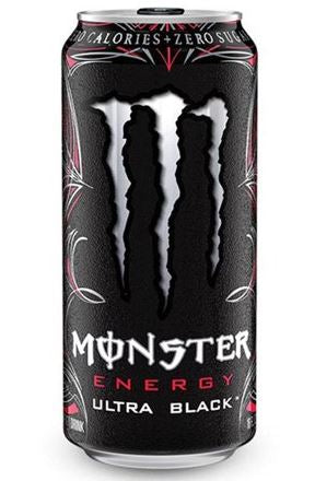 MONSTER ENERGY DRINK - ULTRA BLACK 473ml  Bottle deposit is included in the price.