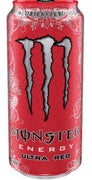 MONSTER ENERGY DRINK - ULTRA RED 473ml- Bottle deposit is included in the price.