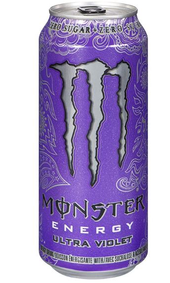MONSTER ENERGY DRINK - ULTRA VIOLET 473ml- Bottle deposit is included in the price.