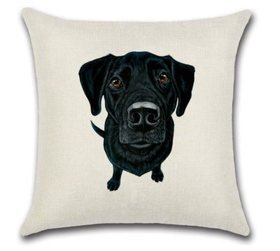 🐶BLACK LAB PILLOW COVER, Package:1 PCS Cushion Cover - Busy Bee Emporium