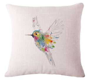 🐦HUMMINGBIRD PILLOW COVER, Package:1 PCS Cushion Cover - Busy Bee Emporium