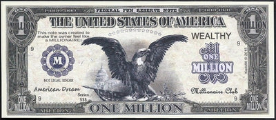 AMERICAN DREAM 💶 Fantasy Note 🦅🗽 Eagles and Flag 🗽🦅 - Busy Bee Emporium
