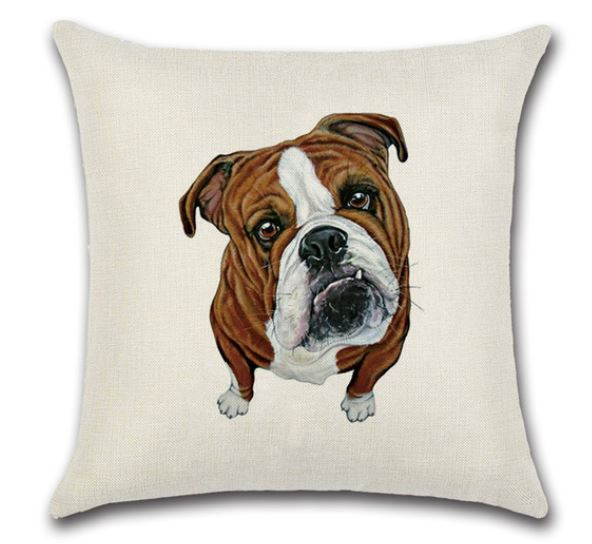 🐶BULL DOG PILLOW COVER, Package:1 PCS Cushion Cover