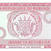 BURUNDI 20 Francs 🌎💷 P - 27c, UNC; 1995 💷🌎👩 Dancer - Busy Bee Emporium