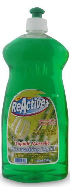 REACTIVE + DISHWASHING LIQUID - GREEN APPLE 750ml