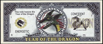 Chinese New Year 🎆 Fantasy Note 💶🐉🐲 YEAR OF THE 🐲 DRAGON 🐲🐉 💶 - Busy Bee Emporium