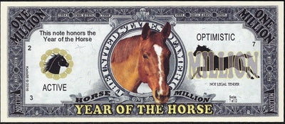 One Million Fantasy Note 💶🐴 CHINESE YEAR OF THE HORSE 🐴💶 - Busy Bee Emporium