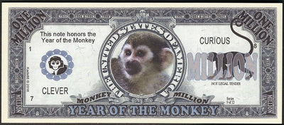 Chinese New Year 🎆 Fantasy Note 💶🐵🐒 YEAR OF THE 🐒 MONKEY 🐵💶 - Busy Bee Emporium