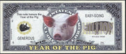 One Million Fantasy Note 💶🐽🐷 CHINESE YEAR OF THE 🐖 PIG 🐷🐽💶 - Busy Bee Emporium