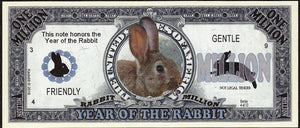One Million Fantasy Note 💶🐇🐰 CHINESE YEAR OF THE 🐰 RABBIT 🐰🐇💶 - Busy Bee Emporium