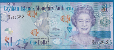 CAYMAN ISLANDS 🌎💷 1 Dollar; P -38c; UNC; 2011 🐠🐟 FISH 👑 Queen ELIZABETH II - Busy Bee Emporium