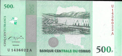 CONGO 500 Francs 🌎💷 P-100, UNC from 2010 🌎💷 50th Anniversary of Independence - Busy Bee Emporium