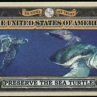 SEA TURTLE 🐢 One Million Fantasy Note 🐢 Endangered Species Series - Busy Bee Emporium