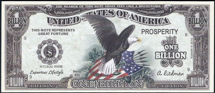 PROSPERITY Billion NOTE 💶🦅 Signing of Declaration and American Bald Eagle 🦅💶