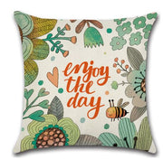 🐝 ENJOY THE DAY BEE PILLOW COVER 🐝 Package:1 PCS Cushion Cover - Busy Bee Emporium
