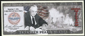 REMEMBER PEARL HARBOR ✝✝ ONE MILLION FANTASY BANKNOTE ✝ ✝MEMORIAL💶 - Busy Bee Emporium