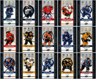 Tim Horton's Upperdeck Hockey Insert: Game Day Action: Complete Set HGD-1 to HGD-15