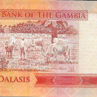 GAMBIA 5 Dalasis 🌎💷 P -31, UNC; 2015 🐦 Giant Kingfisher 🐦 Cattle 🐮 - Busy Bee Emporium
