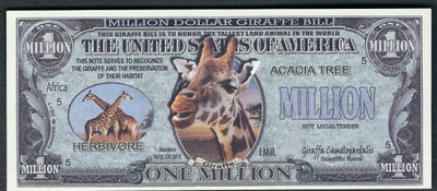 GIRAFFES 🦒  Million Fantasy Note 🦒💶 Wildlife Series - Busy Bee Emporium