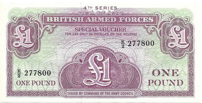 BRITISH ARMED FORCES 🌎💷 1 Pound PM - 36 💷🌎 UNC from 1962