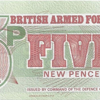 BRITISH ARMED FORCES 🌎💴 5 Pence PM - 47 💴🌎 UNC from 1972 - Busy Bee Emporium