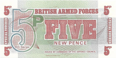 BRITISH ARMED FORCES 🌎💴 5 Pence PM - 47 💴🌎 UNC from 1972